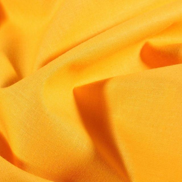 Tissu Coton uni Jaune fluo - Par 10 cm