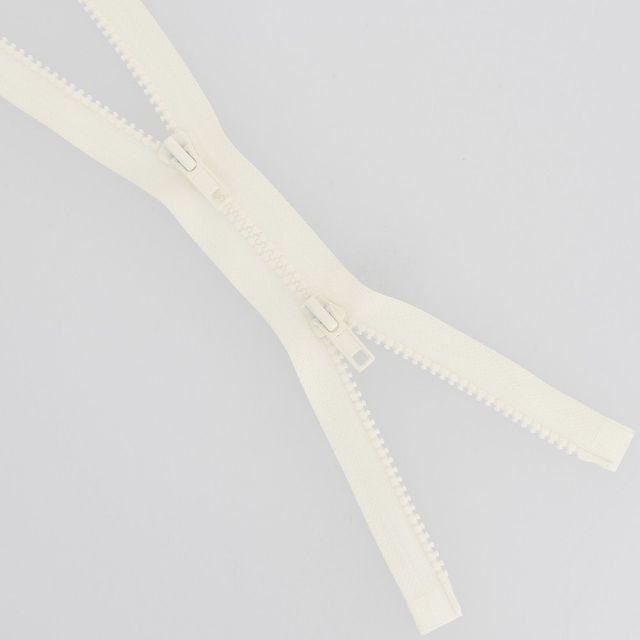 Fermeture injectée n°5 Bouche à Bouche séparable Ecru - 6 tailles