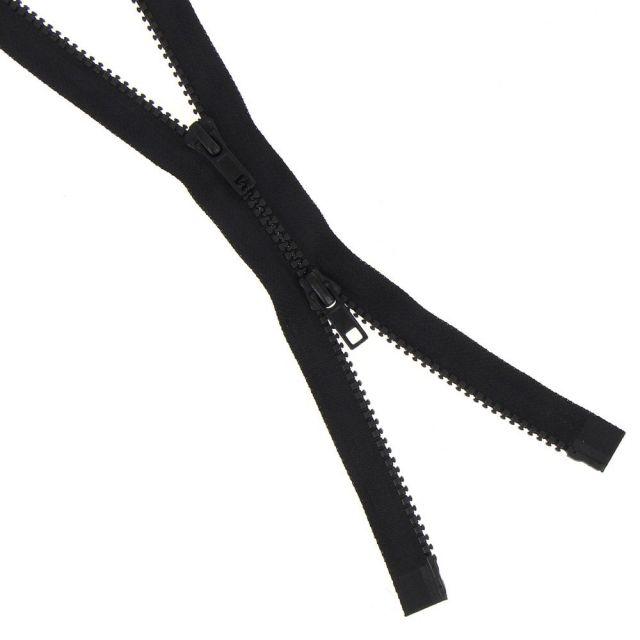 Fermeture injectée n°5 Bouche à Bouche séparable Noir - 6 tailles