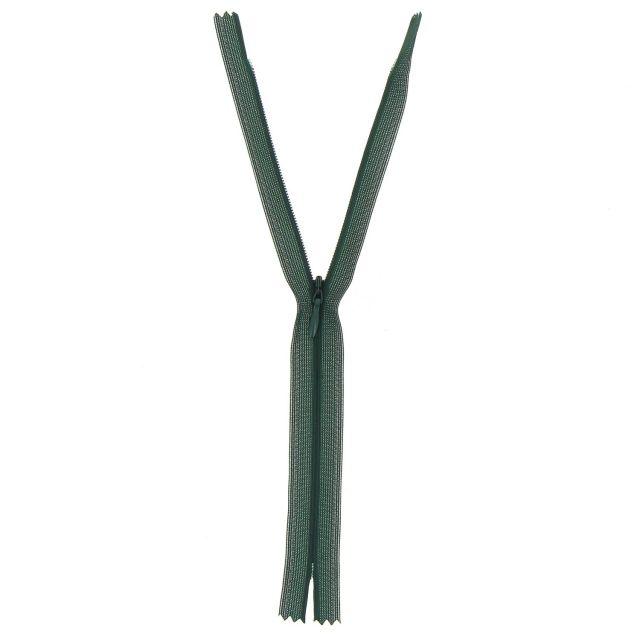Fermeture invisible Vert armée - 3 tailles