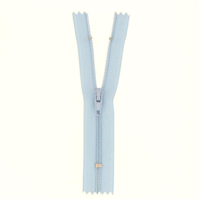 Fermeture nylon non séparable Bleu ciel - 12 tailles