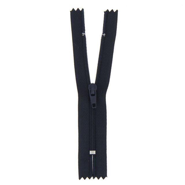 Fermeture nylon non séparable Bleu marine - 12 tailles
