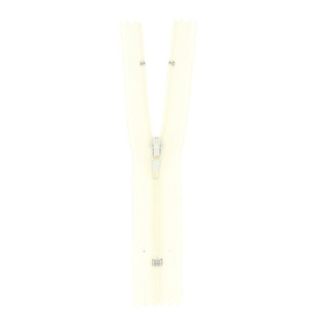 Fermeture nylon non séparable Ecru - 12 tailles