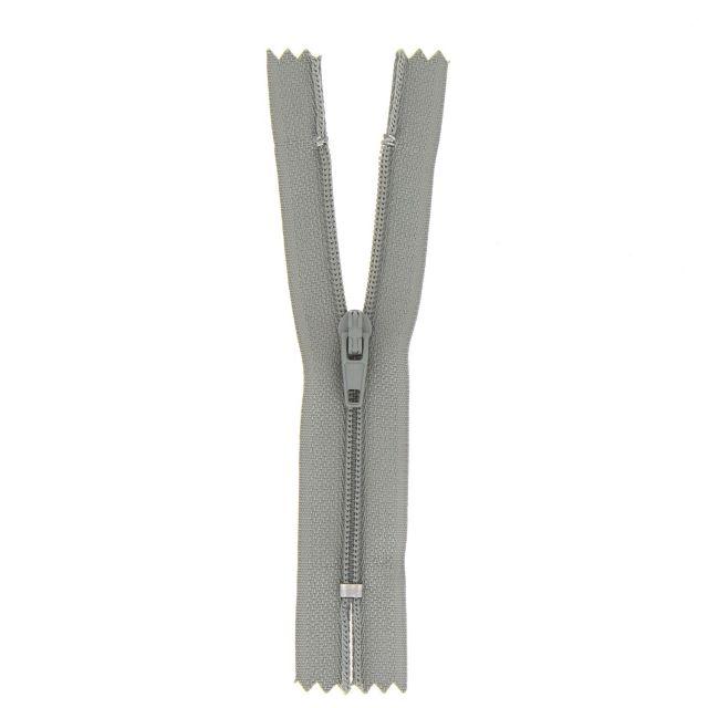 Fermeture nylon non séparable Gris vert - 12 tailles