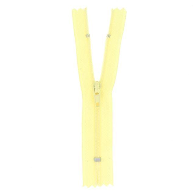 Fermeture nylon non séparable Jaune pastel - 12 tailles