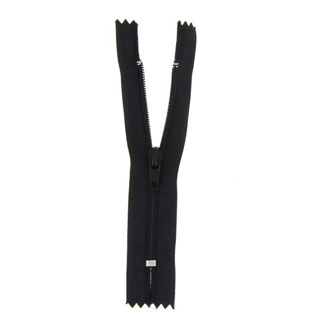 Fermeture nylon non séparable Noir - 12 tailles