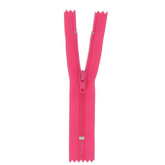 Fermeture nylon non séparable Rose fuschia - 12 tailles