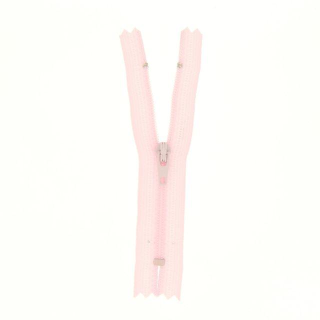 Fermeture nylon non séparable Rose pâle - 12 tailles