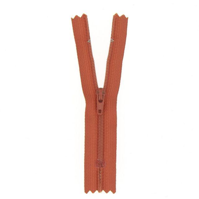 Fermeture nylon non séparable Rouge pourpre - 12 tailles