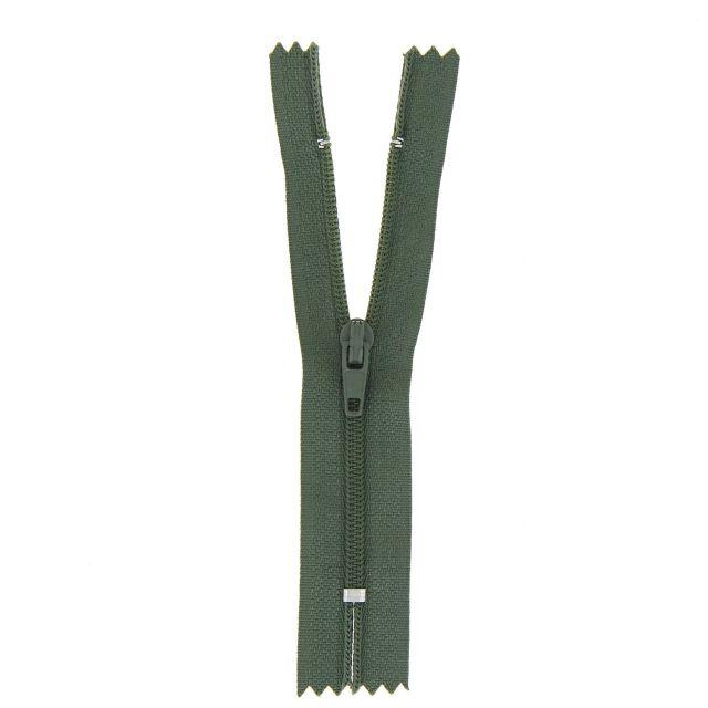Fermeture nylon non séparable Vert armée - 12 tailles