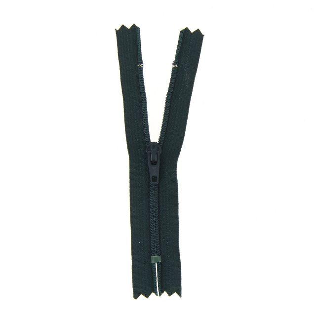 Fermeture nylon non séparable Vert foncé - 12 tailles