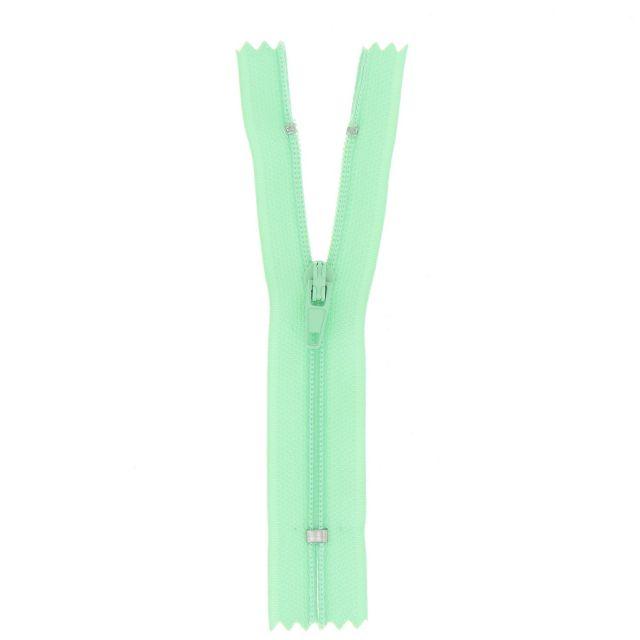 Fermeture nylon non séparable Vert menthe - 12 tailles