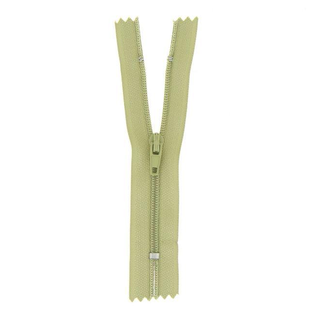 Fermeture nylon non séparable Vert pastel - 12 tailles