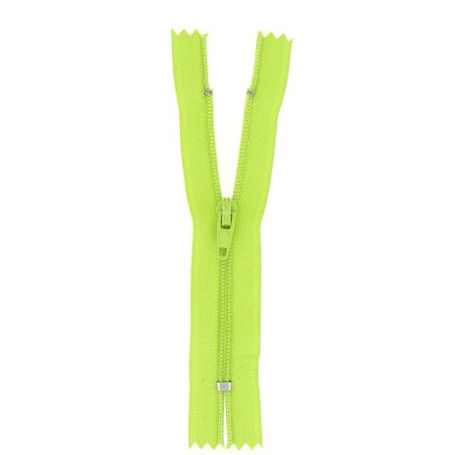 Fermeture nylon non séparable Vert pomme - 12 tailles