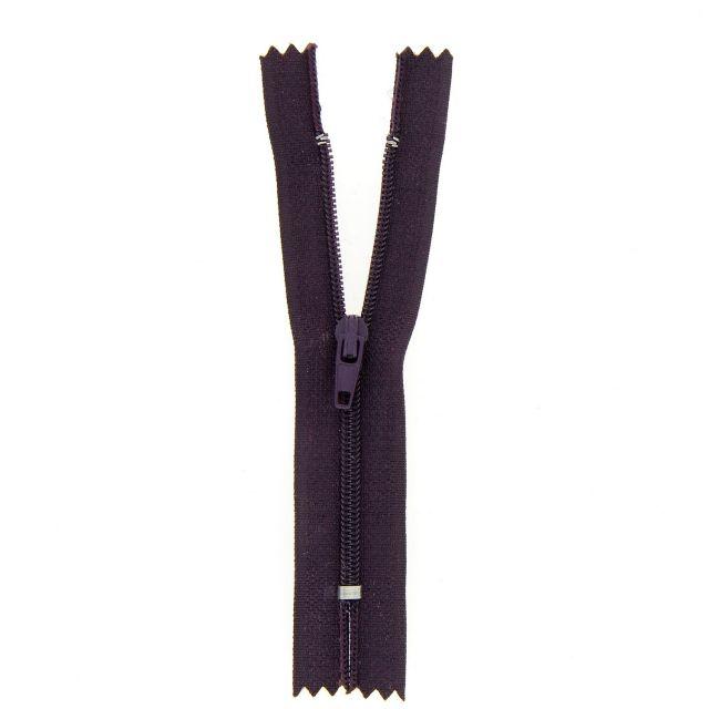 Fermeture nylon non séparable Violet foncé - 12 tailles