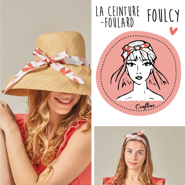 Kit Couture Craftine Ceinture-foulard Foulcy