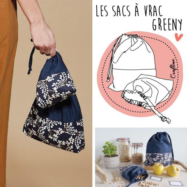 Kit Couture Craftine Sacs à vrac Greeny