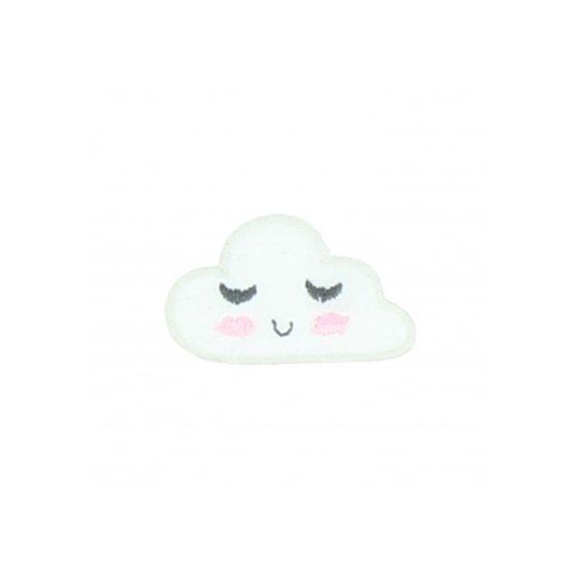 Ecusson Thermocollant Nuage endormi Blanc
