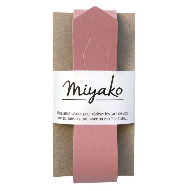 Anse de sac en cuir Miyako Rose poudré