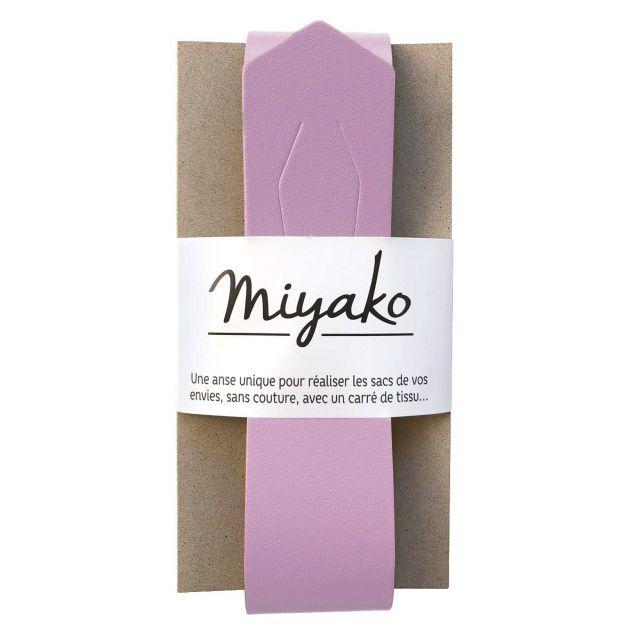 Anse de sac en cuir Miyako Lilas