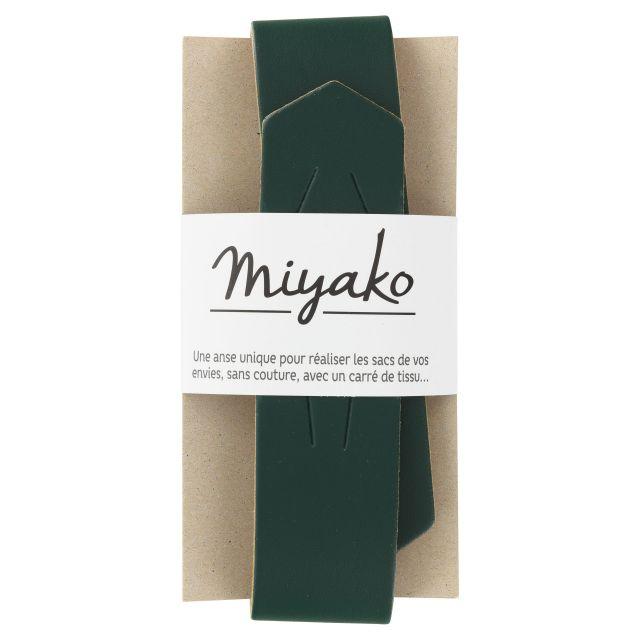 Anse de sac en cuir Miyako Vert sapin