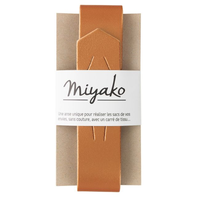 Anse de sac en cuir Miyako Cuivré