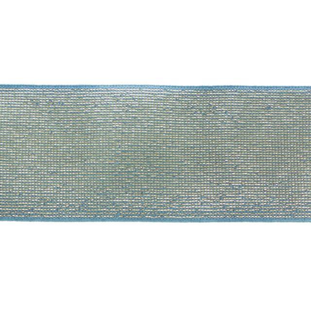 Élastique Plat Lurex Bleu doré 40 mm x1m