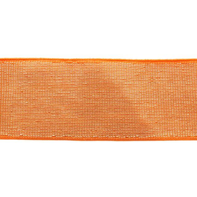 Élastique Plat Lurex Orange doré 40 mm x1m