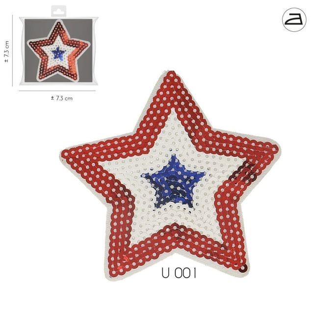 Ecusson Thermocollant Patch Etoile Strass - 2 tailles