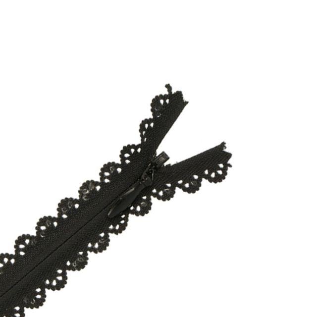 Fermeture invisible Zoé dentelle Noire - 2 tailles