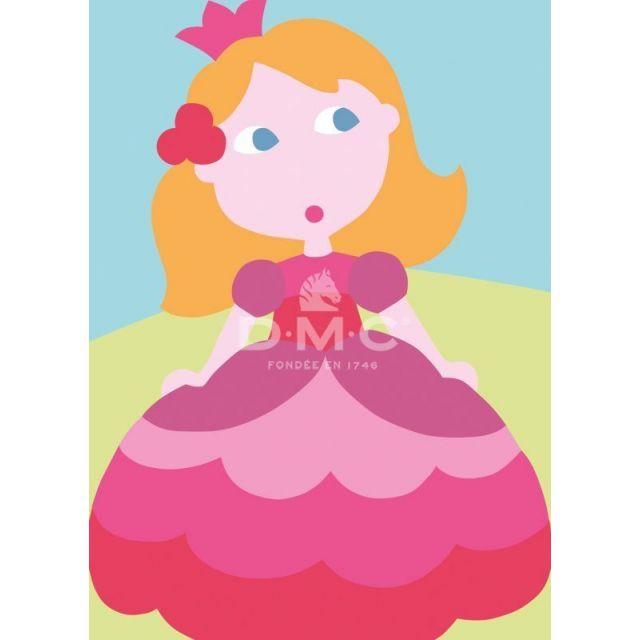 Kit Canevas enfants DMC Lilou la Princesse 13 x 18 cm