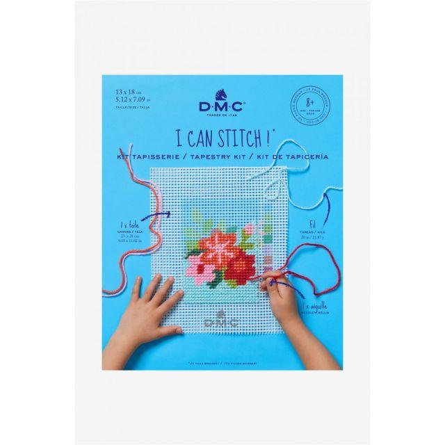 Kit Tapisserie DMC - Fleur 13x18 cm
