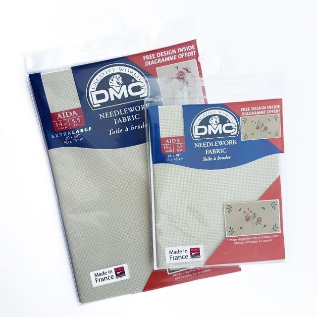 Toile Aïda 5,5 pts/cm Ecru DMC -  2 Tailles