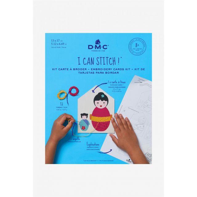 Kit carte à broder DMC - Japonaise 13x17 cm