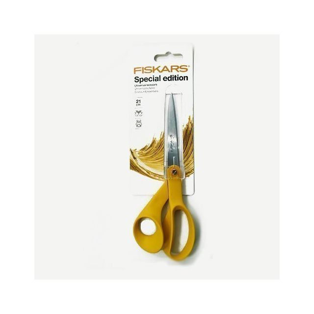 Ciseaux Fiskars universels édition spéciale 21 cm jaune