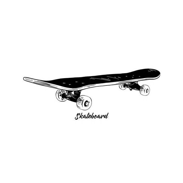 Sticker textile thermo-adhésif  9x15 cm - Skateboard