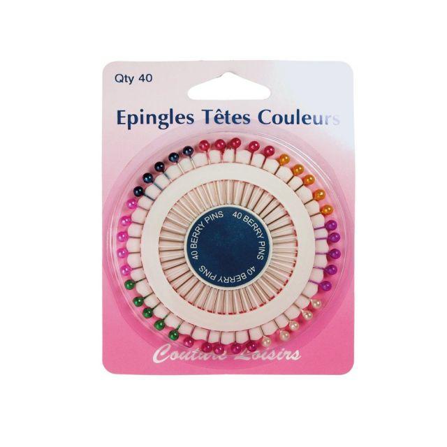 Epingles têtes perles x40 - 38 mm x 0.62mm