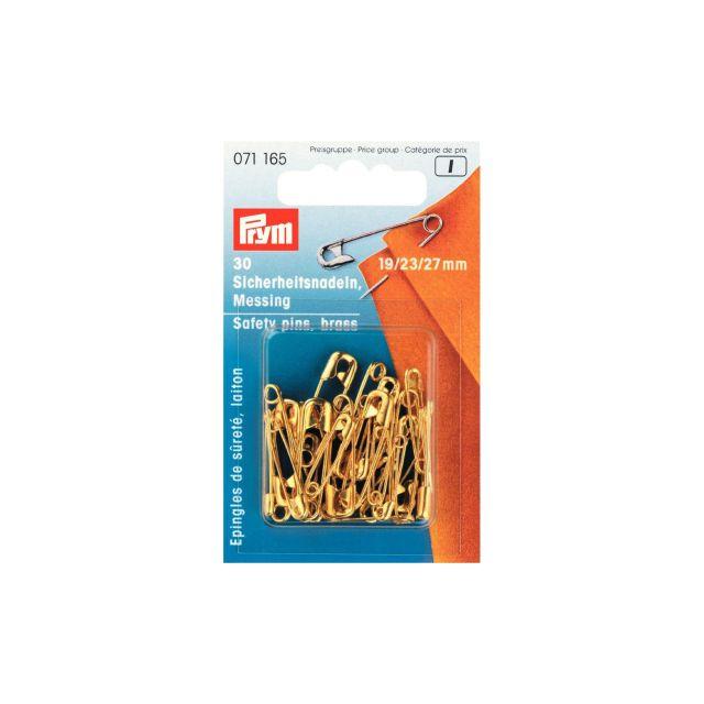 Epingles de sûreté Prym à ressort laiton No. 3/0, 2/0 Or