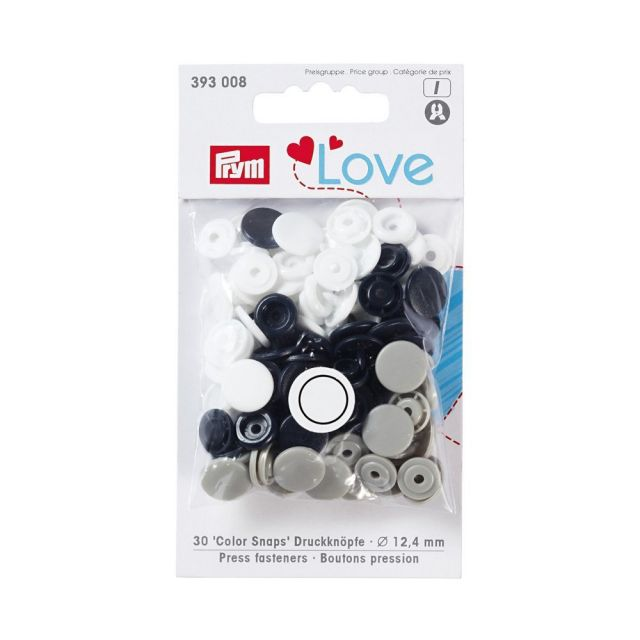 Boutons pression Prym Colors Snaps Love marine - Sachet 30 boutons