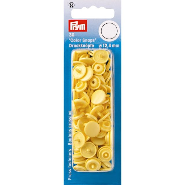 Prym 30 Boutons pression Color Snaps jaune banane 12,4 mm