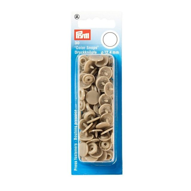 Prym 30 Boutons pression Color Snaps champagne 12,4 mm
