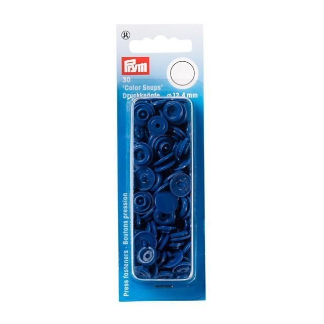 Prym 30 Boutons pression Color Snaps bleu 12,4 mm
