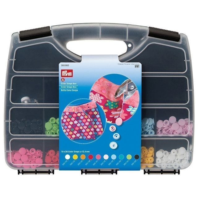 Mallette de 300 boutons pressions Color Snaps Prym avec outil de pose