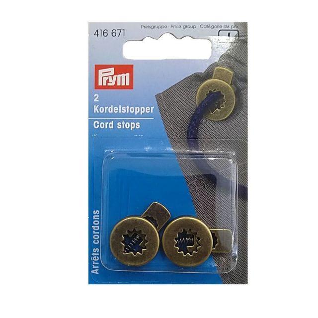 Arrets cordons avec 1 trou en métal Prym Noir