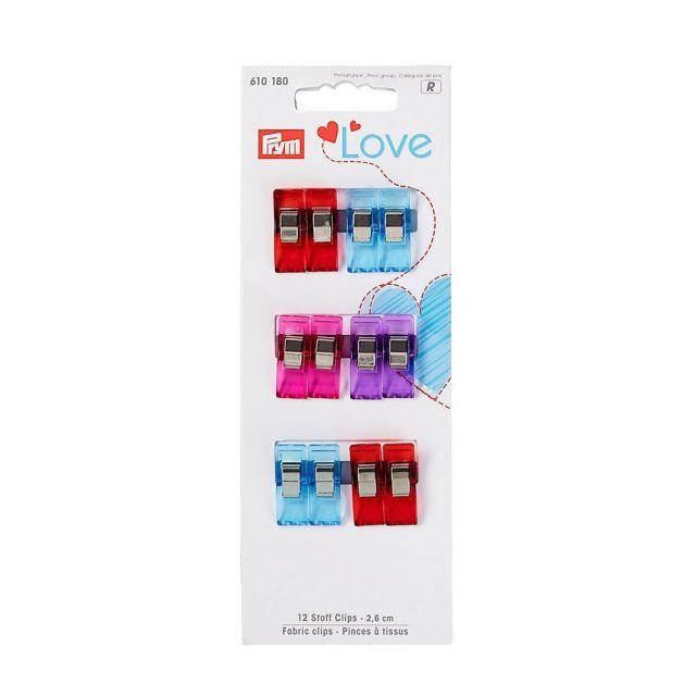 Pinces à tissus 2,6cm Prym Love Multicolore