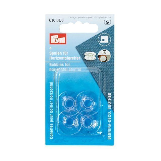 Canettes machine à coudre Prym plastique pour boîtier horizontal 21,2 mm