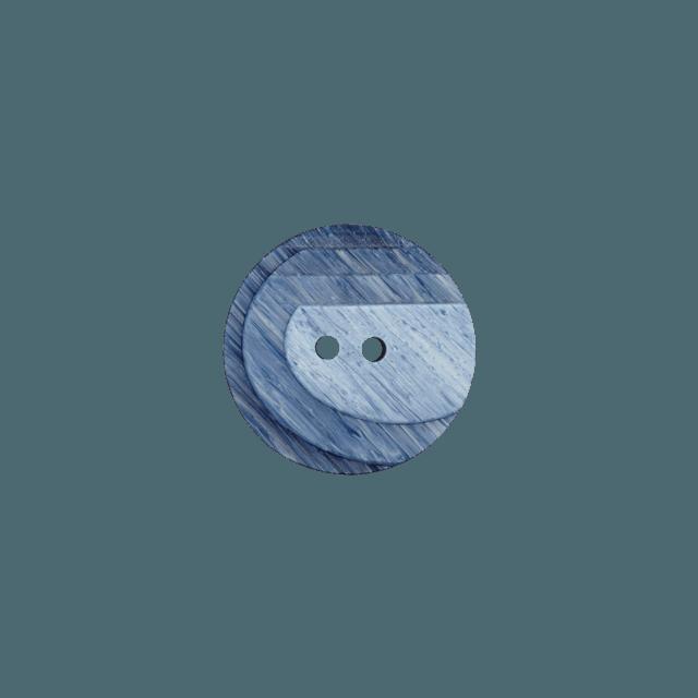 Bouton Polyester 2 trous 23 mm Gris ardoise