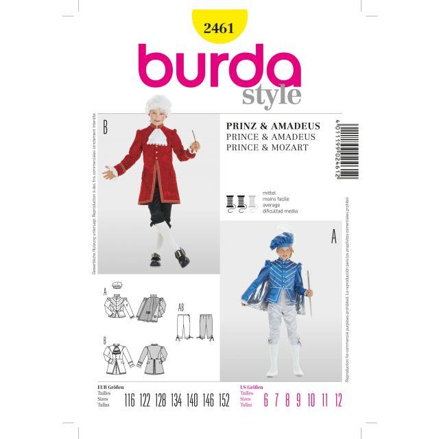 Patron Burda 2461 Prince et Wolfgang Amadeus