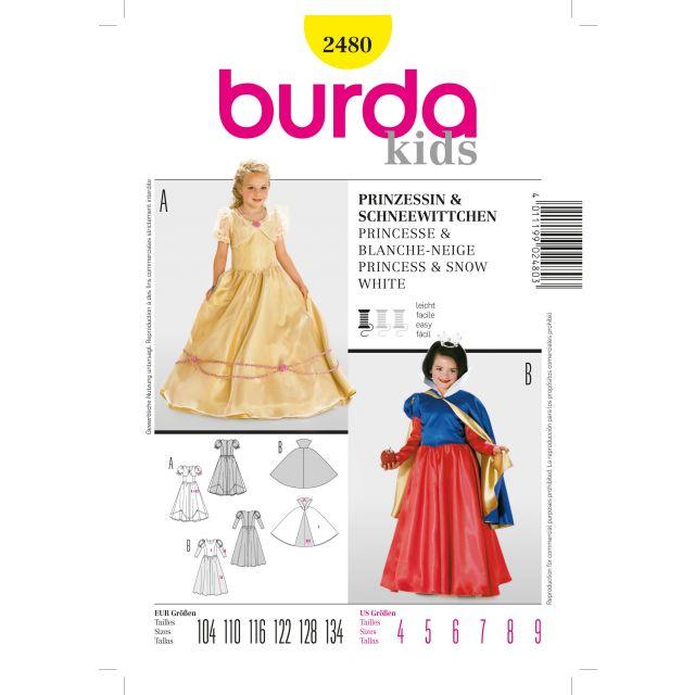 Patron Burda 2480 Princesse et Blanche-Neige