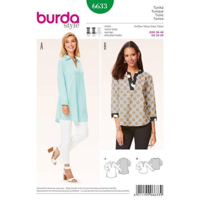 Patron Burda 6633 Tunique